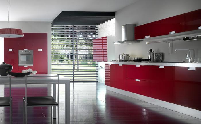 cucina rossa arredamento cucina : Categorie Cucine in stile moderno ? Centro cucine