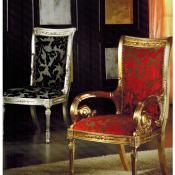 sedia argento oro