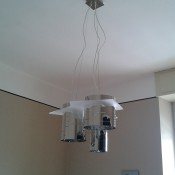 lampadario cromato