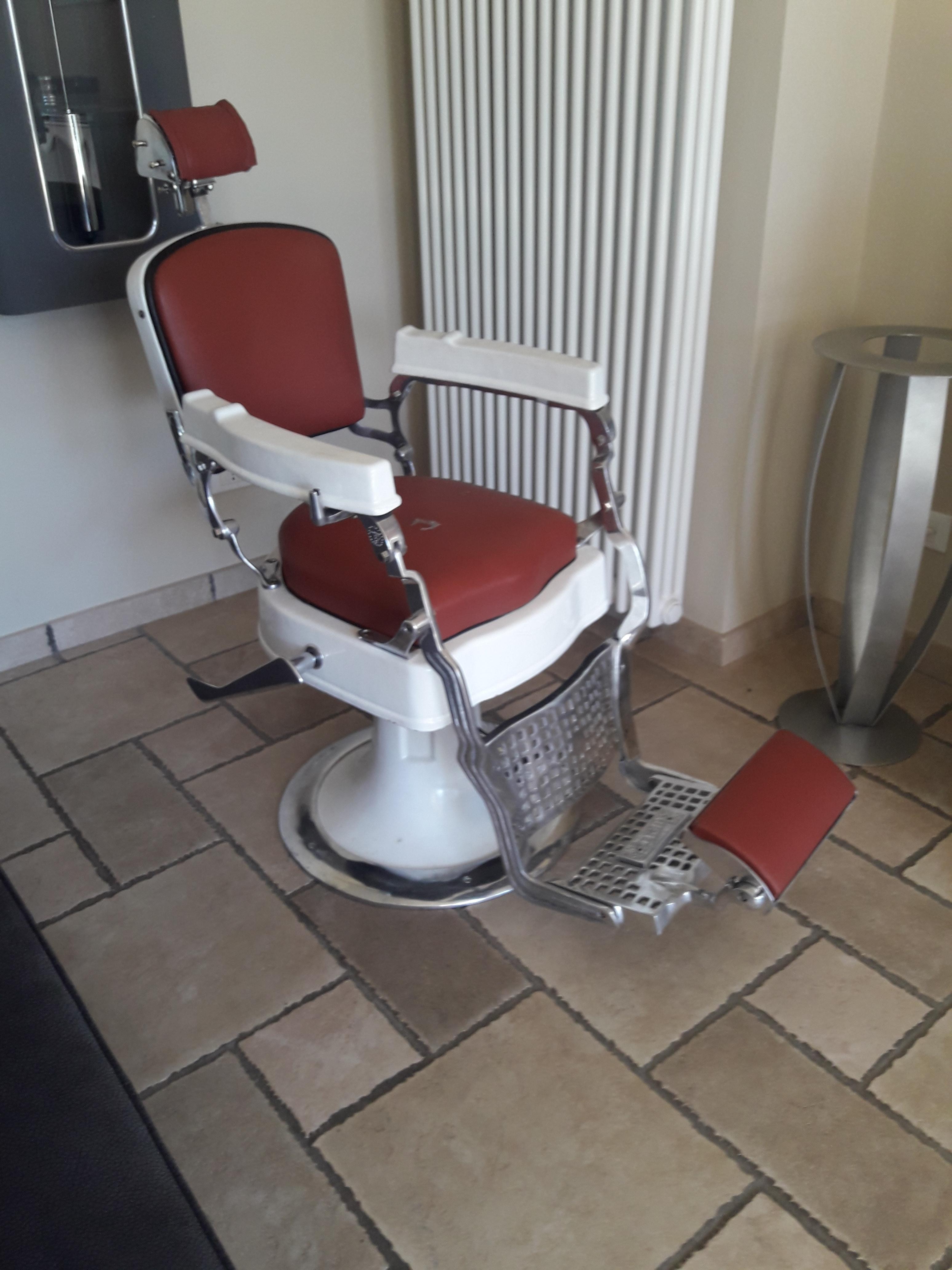 sedia da barbiere vintage originale anni 60-70-