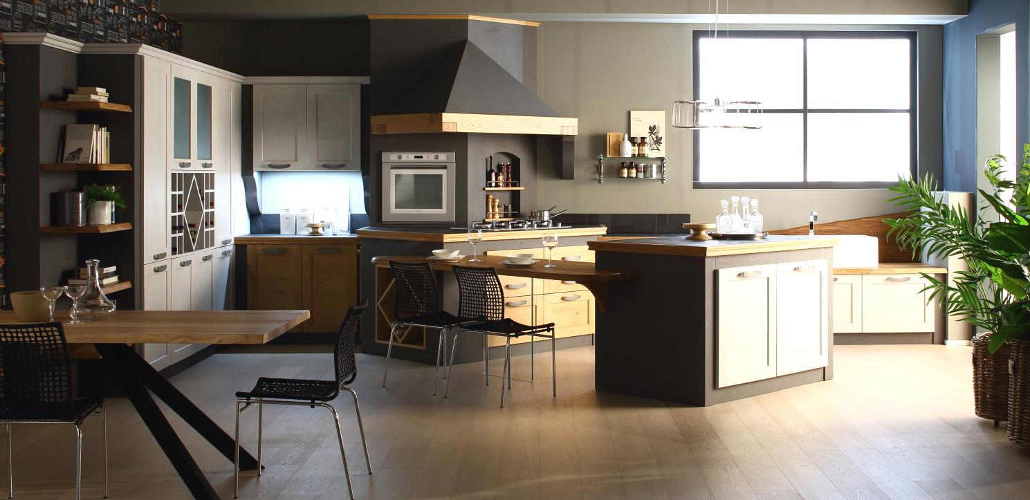 Cucina moderna in massello struttura legno - Struttura cucina in muratura ...