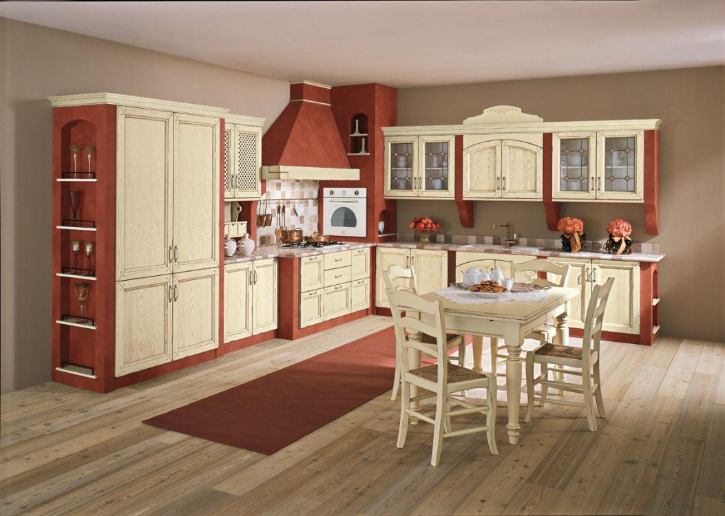 Cucina in muratura modello sveva in legno laccato - Modelli di cucina in muratura ...